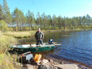 Unser Boot am Häsjön