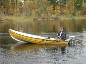 Unser Boot am Dragsjön