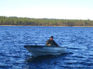 Unser Boot am Gasjön